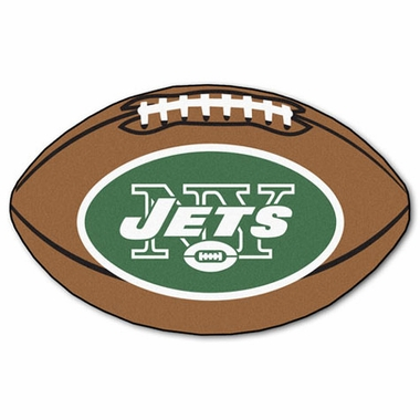 New York Jets Football Shaped Rug