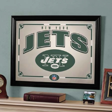 New York Jets Framed Mirror