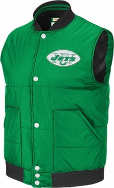 New York Jets Free Agent Throwback Snap Vest Jacket