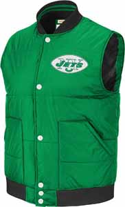 New York Jets Free Agent Throwback Snap Vest Jacket - X-Large