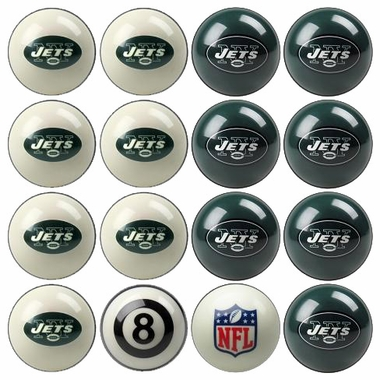 New York Jets Home and Away Complete Billiard Ball Set
