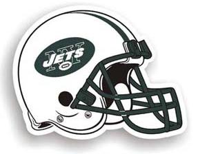 "New York Jets 12"" Helmet Car Magnet"