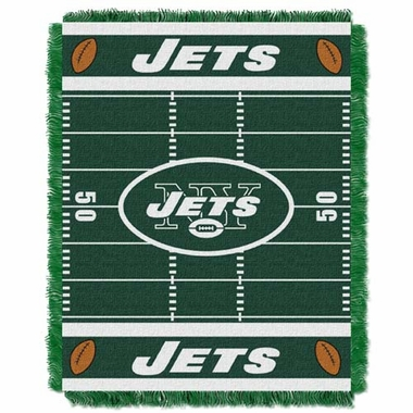 New York Jets Jacquard BABY Throw Blanket