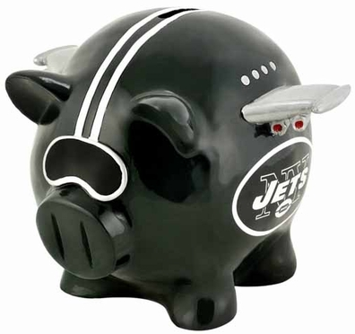 New York Jets Large Thematic Piggy Bank