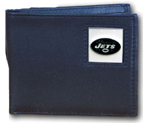 New York Jets Leather Bifold Wallet (F)