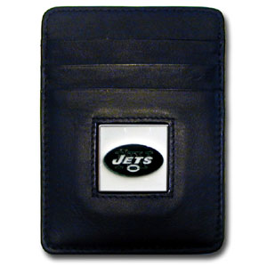 New York Jets Leather Money Clip (F)