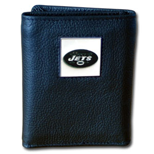New York Jets Leather Trifold Wallet (F)
