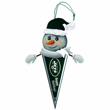 New York Jets Light Up Snowman Pennant Ornament (Set of 3)