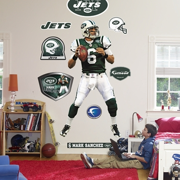 New York Jets Mark Sanchez Logo Fathead Wall Graphic