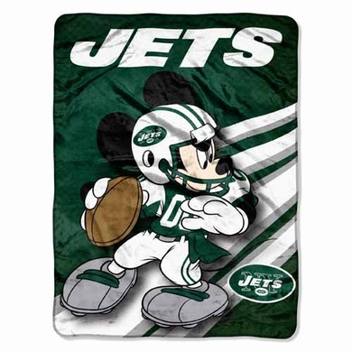New York Jets Mickey Mouse Microfiber Throw