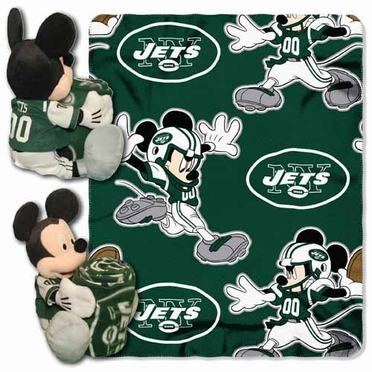 New York Jets Mickey Mouse Pillow / Throw Combo
