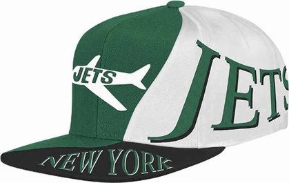 New York Jets Mitchell & Ness The Skew Retro Vintage Snap Back Hat