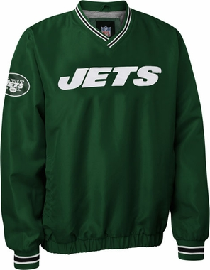 New York Jets NFL Pre-Season Wordmark Pullover Green Jacket
