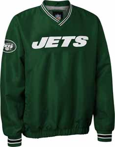 New York Jets NFL Pre-Season Wordmark Pullover Green Jacket - Medium