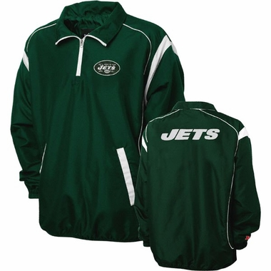New York Jets NFL Red Zone 1/4 Zip Green Jacket