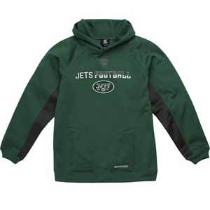 New York Jets NFL YOUTH Endurance Performance Pullover Hooded Sweatshirt - Large
