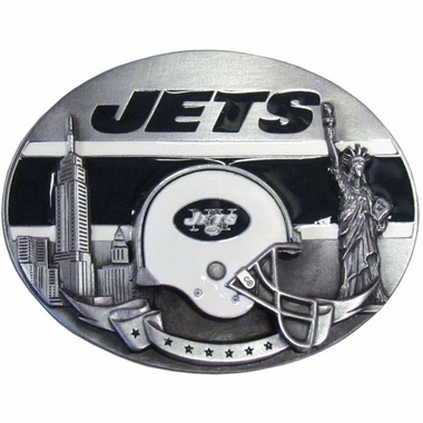New York Jets Enameled Belt Buckle