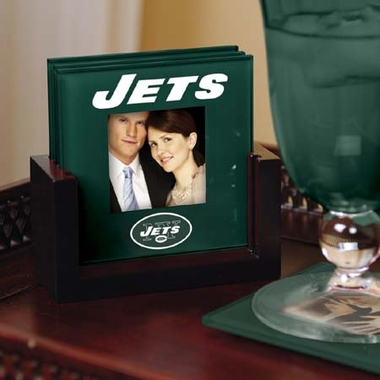 New York Jets Photo Coaster Set