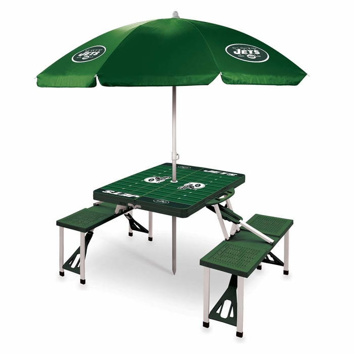Picnic Table Umbrella : ... Category Tailgating New York Jets Picnic Table With Umbrella (Green