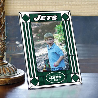 New York Jets Portrait Art Glass Picture Frame