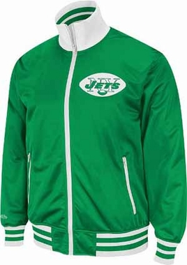 New York Jets Preseason Throwback Track Jacket - XX-Large