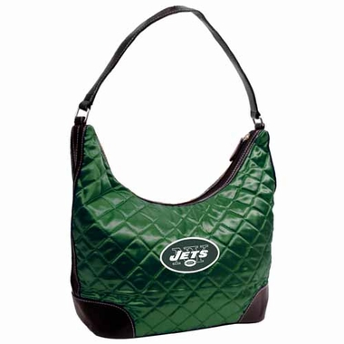 New York Jets Quilted Hobo Purse