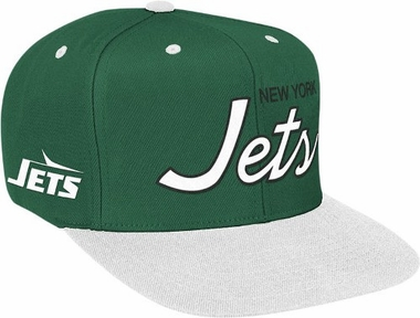 New York Jets Retro Script Snapback Hat