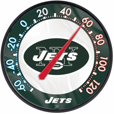 New York Jets Round Wall Thermometer