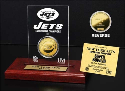 New York Jets New York Jets SB Champs Etched Acrylic