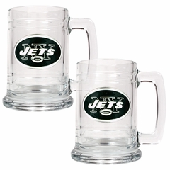 New York Jets Set of 2 15 oz. Tankards