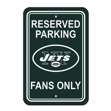 New York Jets Plastic Reserved Parking Sign (P)