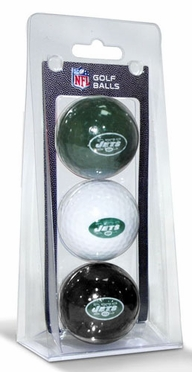 New York Jets Set of 3 Multicolor Golf Balls