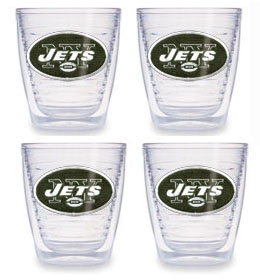 New York Jets Set of FOUR 12 oz. Tervis Tumblers
