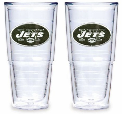 """New York Jets Set of TWO 24 oz. """"Big T"""" Tervis Tumblers"""
