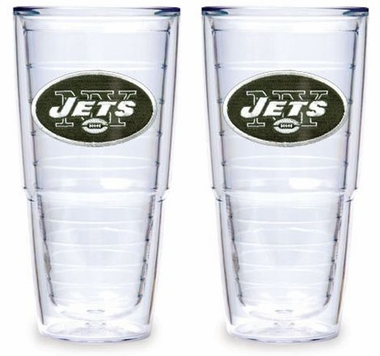 "New York Jets Set of TWO 24 oz. ""Big T"" Tervis Tumblers"