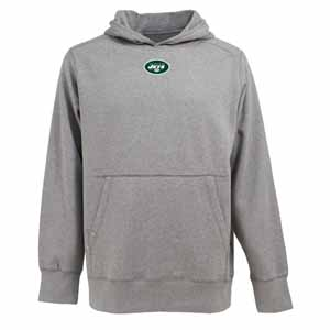 New York Jets Mens Signature Hooded Sweatshirt (Color: Gray) - Large