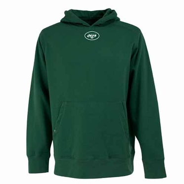 New York Jets Mens Signature Hooded Sweatshirt (Team Color: Green)