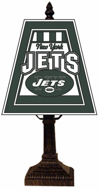 New York Jets Small Art Glass Lamp
