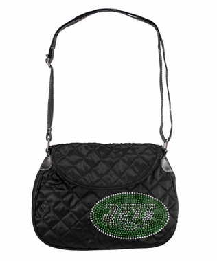 New York Jets Sport Noir Quilted Saddlebag