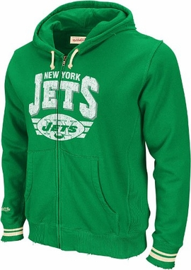 New York Jets Stadium Vintage Full Zip Hooded Sweatshirt