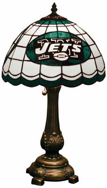 New York Jets Stained Glass Table Lamp
