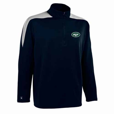 New York Jets Mens Succeed 1/4 Zip Performance Pullover (Color: Smoke)