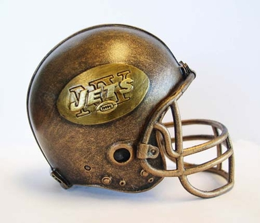 New York Jets Tim Wolfe Helmet Statue