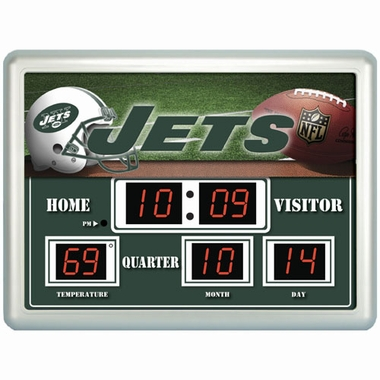 New York Jets Time / Date / Temp. Scoreboard