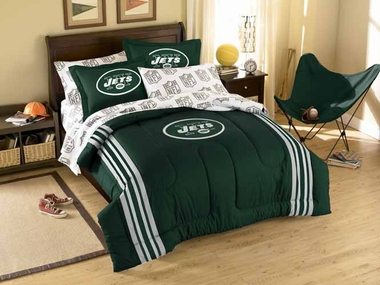 New York Jets Twin Comforter and Shams Set