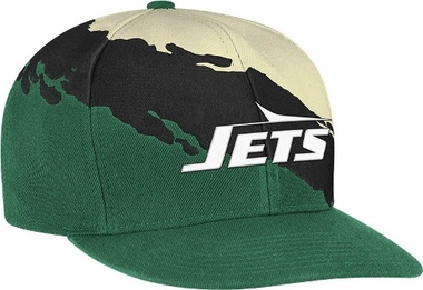 New York Jets Vintage Paintbrush Snap Back Hat