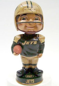 New York Jets Vintage Retro Bobble Head