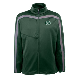 New York Jets Mens Viper Full Zip Performance Jacket (Team Color: Green)