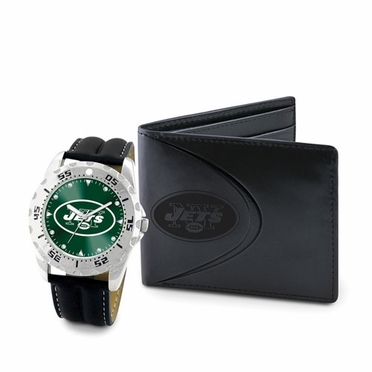 New York Jets Watch and Wallet Gift Set