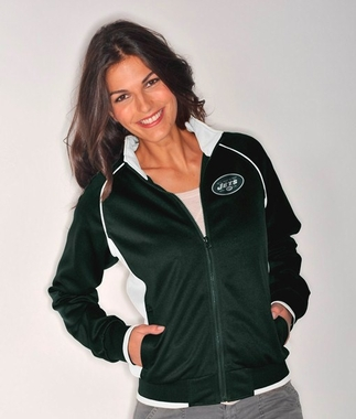 New York Jets Women's NFL Medalist Full Zip Team Color Track Jacket